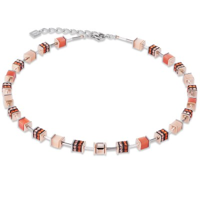 Collier GeoCUBE Kristalle & Glas & Strass orange von COEUR DE LION