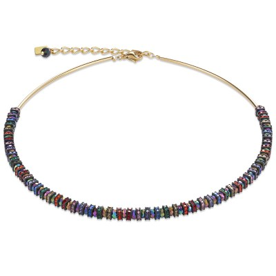 Collier Frontline Strass & Glas multicolor-gold von COEUR DE LION